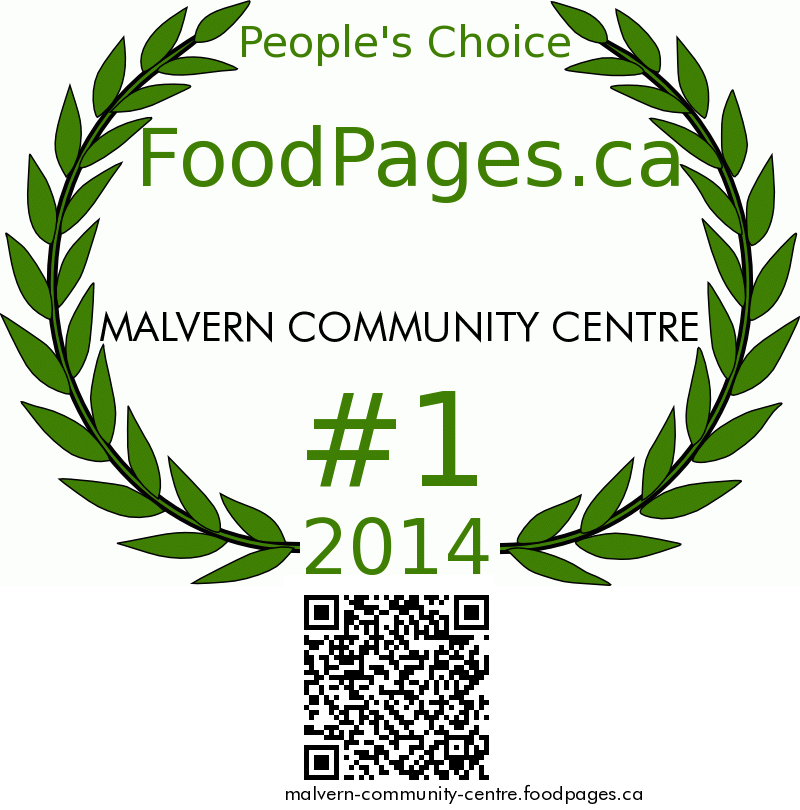 MALVERN COMMUNITY CENTRE FoodPages.ca 2014 Award Winner